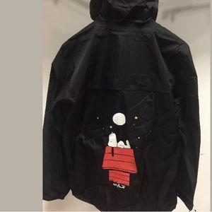 NWT K.WAY Windbreaker ZIPUP SNOOPY RAINCOAT jacket